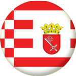 Bremen State Flag 25mm Pin Button Badge